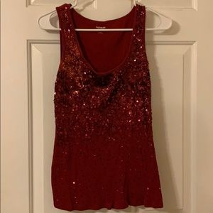 Express Red Sequin Tank